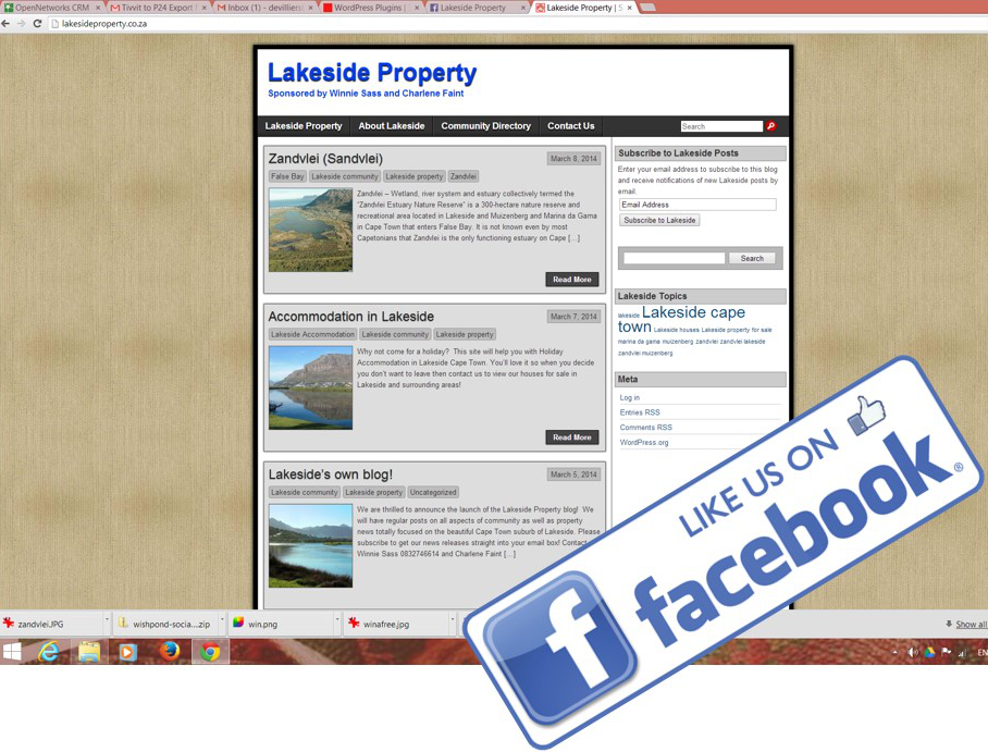 Lakeside Property Facebook Page